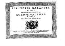 Les fêstes galantes: High tenor part by Henri Desmarets
