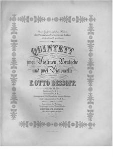 Струнный квинтет соль мажор, Op.10: Партии by Феликс Отто Дессоф