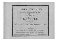 Пьесы для виолы да гамба и бассо континуо: Тетрадь II – партия бассо континуо by Луи де Кед'Эрвелуа