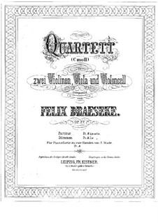 Струнный квартет No.1, Op.27: Струнный квартет No.1 by Феликс Дрезеке
