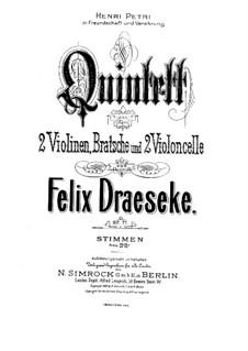 Струнный квинтет фа мажор, Op.77: Струнный квинтет фа мажор by Феликс Дрезеке