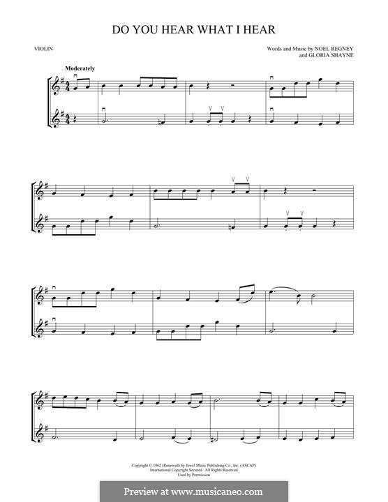 Do You Hear What I Hear (Instrumental version): Для двух скрипок by Gloria Shayne, Noël Regney