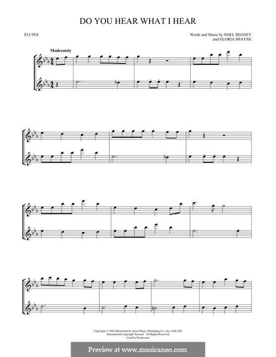 Do You Hear What I Hear (Instrumental version): Для двух флейт by Gloria Shayne, Noël Regney