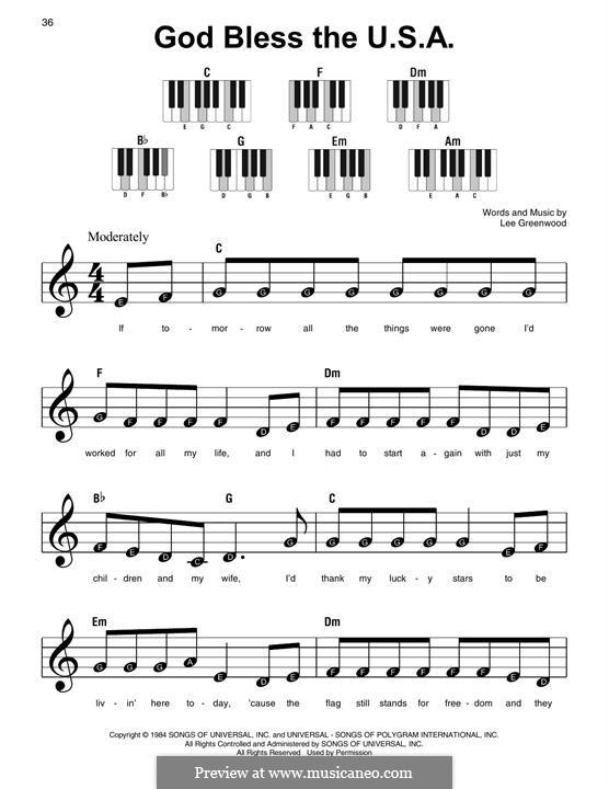 God Bless the U.S.A.: Для фортепиано by Lee Greenwood