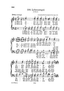 Gesänge für Männerchor, Op.22: Nr.4 Lebensregel by Иоганн Дюррнер