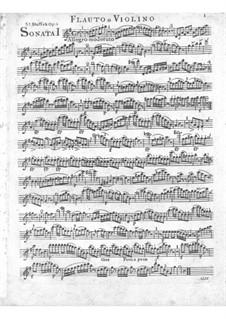 Три сонаты для фортепиано и флейты (или скрипки), Op.51 Craw 23-25: Партия флейты или скрипки by Ян Ладислав Дуссек