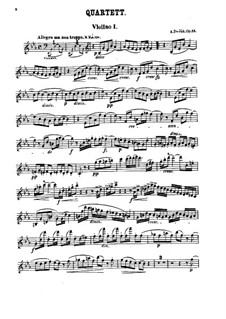 Струнный квартет No.10 ми-бемоль мажор 'Славянский', B.92 Op.51: Партии by Антонин Дворжак