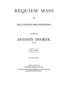 Реквием си-бемоль минор, B.165 Op.89: Партитура by Антонин Дворжак