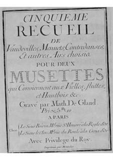 Восемь сборников сюит для волынки и бассо континуо: No.5-8 by Nicolas Chédeville