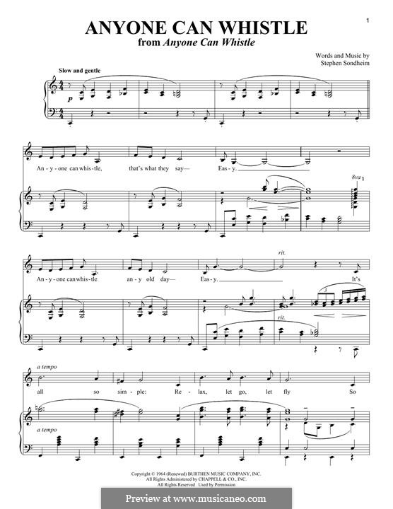 Anyone Can Whistle: Для голоса и фортепиано by Stephen Sondheim