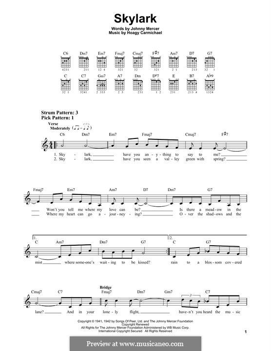 Skylark: Для гитары by Hoagy Carmichael
