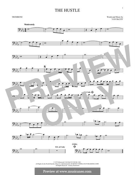 The Hustle: For trombone by Van McCoy
