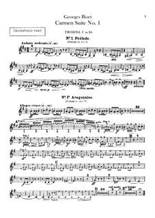 Первая сюита: Партии труб by Жорж Бизе