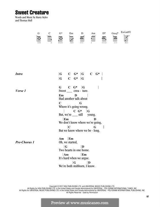 Sweet Creature: Для укулеле by Tom Hull, Harry Styles
