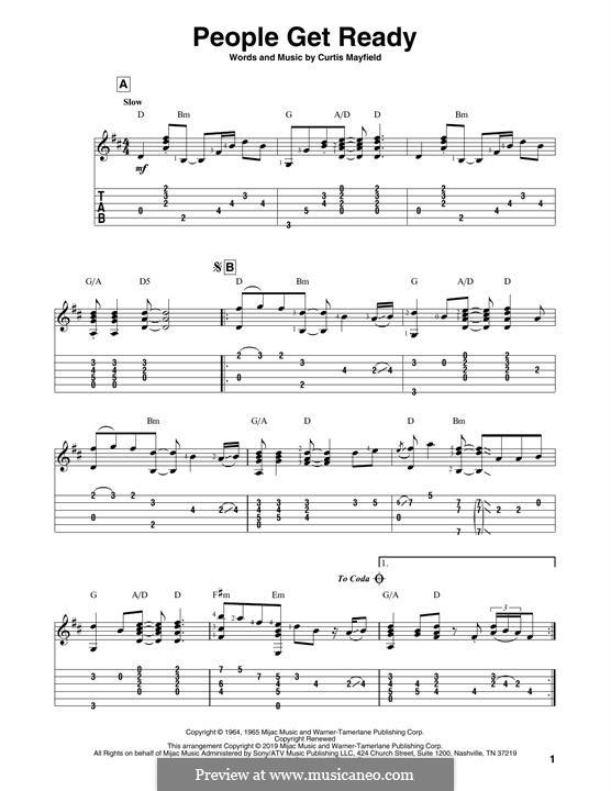 People Get Ready (Eva Cassidy): Для гитары by Curtis Mayfield