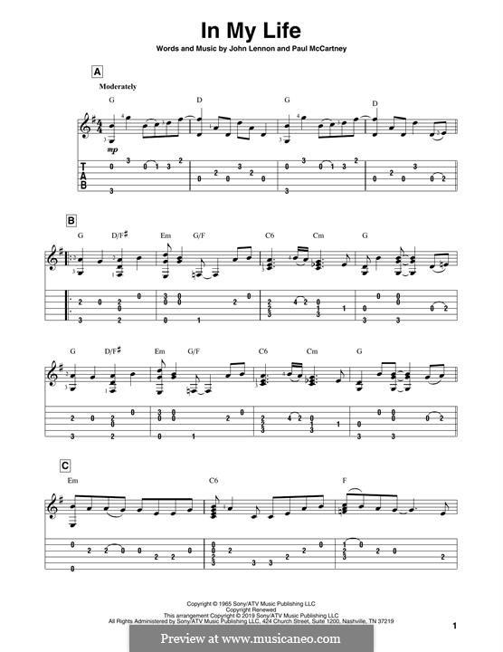 In My Life (The Beatles): Для гитары by John Lennon, Paul McCartney