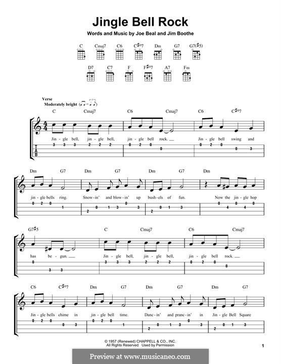 Jingle Bell Rock: Для укулеле by Jim Boothe, Joe Beal