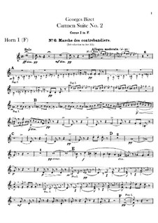 Вторая сюита: Партии валторн by Жорж Бизе