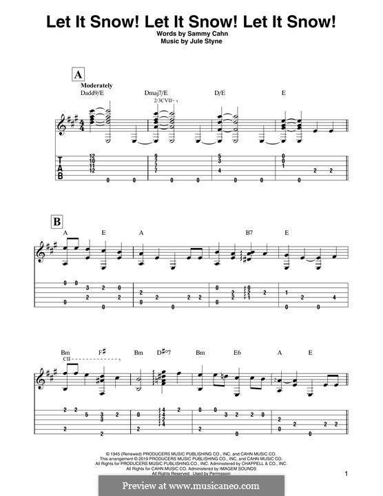 Let It Snow! Let It Snow! Let It Snow!: Для гитары by Jule Styne