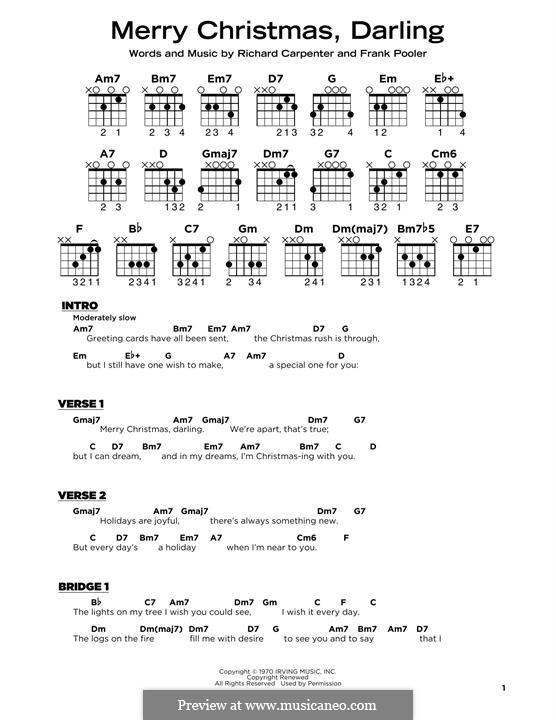 Merry Christmas, Darling (Carpenters): Для гитары by Frank Pooler, Richard Carpenter