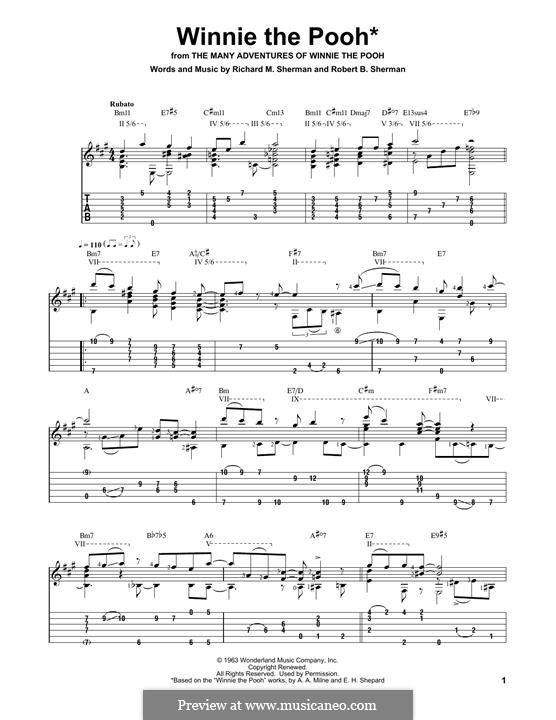 Winnie the Pooh: Для гитары by Richard M. Sherman, Robert B. Sherman