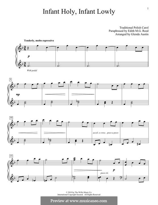 Infant Holy, Infant Lowly: Для фортепиано by folklore