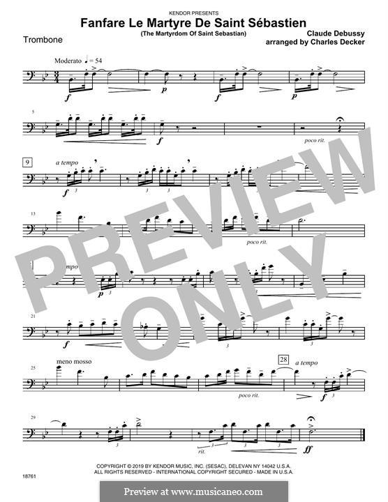 Fanfare Le Martyre De Saint Sebastien (The Martyrdom Of Saint Sebastian): Партия тромбона by Клод Дебюсси