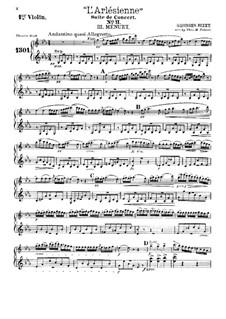 Сюита II: No.3-4, для театрального оркестра – Партия первой скрипки by Жорж Бизе