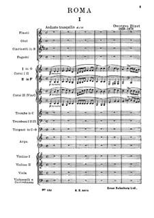 Симфония до мажор 'Рим': Партитура by Жорж Бизе