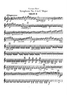 Симфония No.1 до мажор: Скрипка II by Жорж Бизе