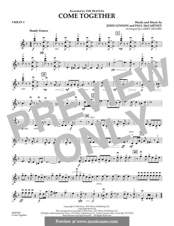 Come Together (The Beatles): For strings – Violin 1 part by John Lennon, Paul McCartney