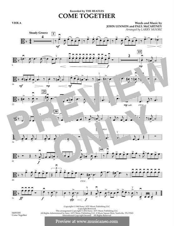 Come Together (The Beatles): For strings – Viola part by John Lennon, Paul McCartney
