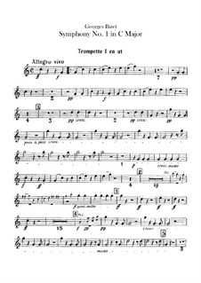 Симфония No.1 до мажор: Партии труб by Жорж Бизе