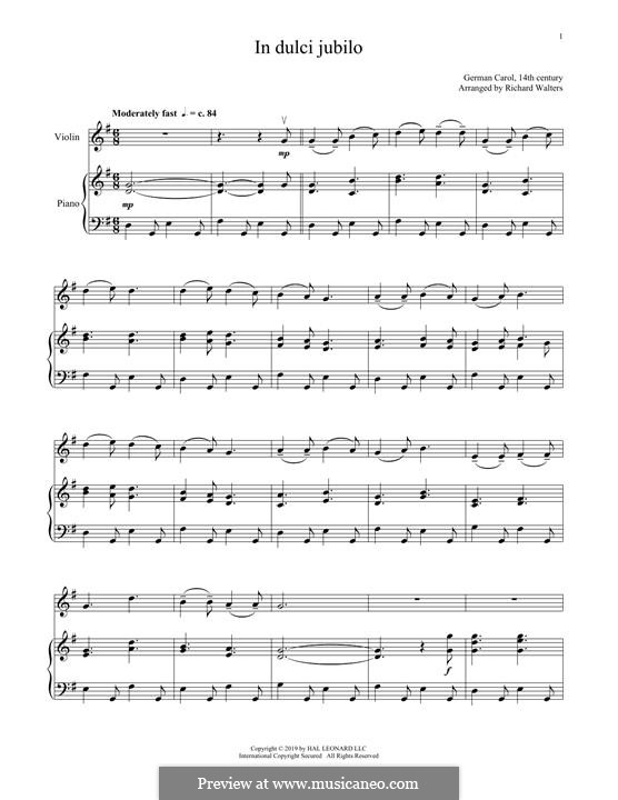 In dulci jubilo: Для скрипки и фортепиано by folklore