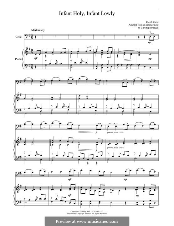 Infant Holy, Infant Lowly: Для виолончели и фортепиано by folklore