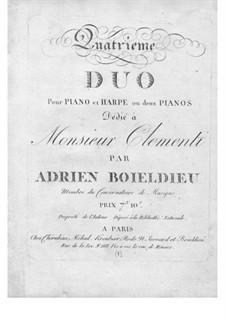 Дуэт No.4 для арфы и фортепиано: Партия фортепиано by Адриен Буальдье