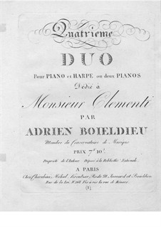 Дуэт No.4 для арфы и фортепиано: Партия арфы by Адриен Буальдье