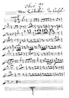Калиф Багдадский: Ma Zetulbé – oboe II part by Адриен Буальдье