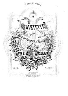 Квинтет ре минор для фортепиано, двух скрипок, альта и виолончели, Op.11: Партитура, Партии by Рене де Буадефр