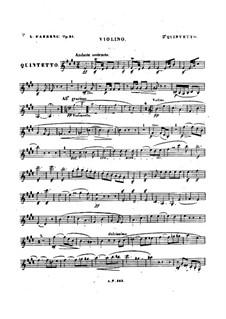 Квинтет для фортепиано и струнных No.2, Op.31: Партия скрипки by Луиза Фарранк