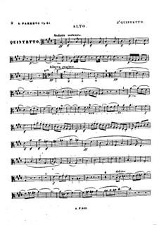Квинтет для фортепиано и струнных No.2, Op.31: Партия альта by Луиза Фарранк