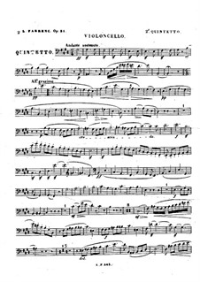Квинтет для фортепиано и струнных No.2, Op.31: Партия виолончели by Луиза Фарранк