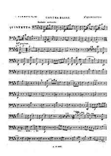 Квинтет для фортепиано и струнных No.2, Op.31: Партия контрабаса by Луиза Фарранк