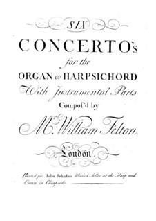 Шесть концертов для органа (или клавесина) с оркестром, Op.1: Партия II гобоя by William Felton
