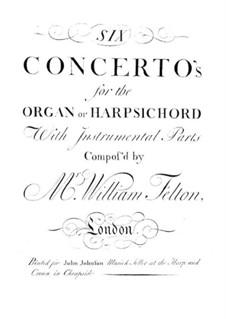 Шесть концертов для органа (или клавесина) с оркестром, Op.1: Скрипка I by William Felton