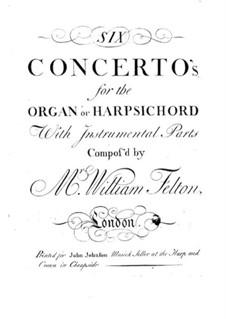 Шесть концертов для органа (или клавесина) с оркестром, Op.1: Партия второй скрипки рипиено by William Felton