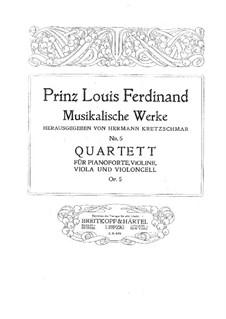 Фортепианный квартет ми-бемоль мажор, Op.5: Партитура, Партии by Людвиг Фердинанд Принц Пруссии