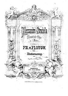 Алессандро Страделла: Аранжировка для фортепиано by Фридрих фон Флотов