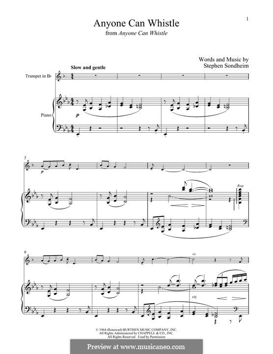 Anyone Can Whistle: For trumpet and piano by Stephen Sondheim