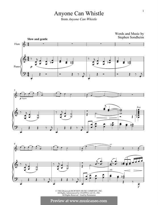 Anyone Can Whistle: Для флейты и фортепиано by Stephen Sondheim